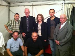 MozART group together with Jolanta Kozłowska, Jürgen Rüttgers and Karlheinz Gierden in Brauweiler