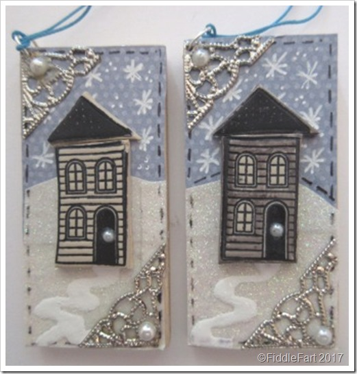 House In The Snow Christmas Tag