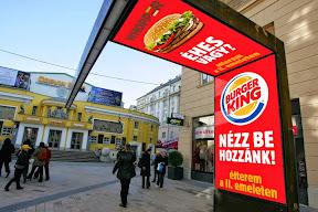 LED Reklám videó készítése a Burger King-nek.