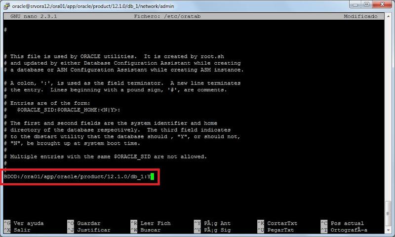 Cambiar DBNAME o SID de base de datos Oracle 12c en Linux CentOS 7