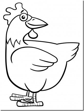 Dibujos De Gallinas Huevos Y Pollitos Dibujos Colorear