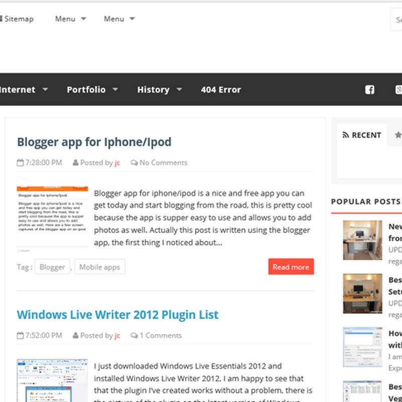 Phantom Free Responsive Blogger Template (2 Columns)
