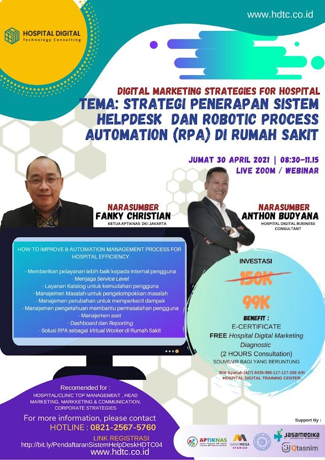 Strategi Penerapan Sistem Helpdesk dan Robotic Process Automation (RPA) di Rumah Sakit