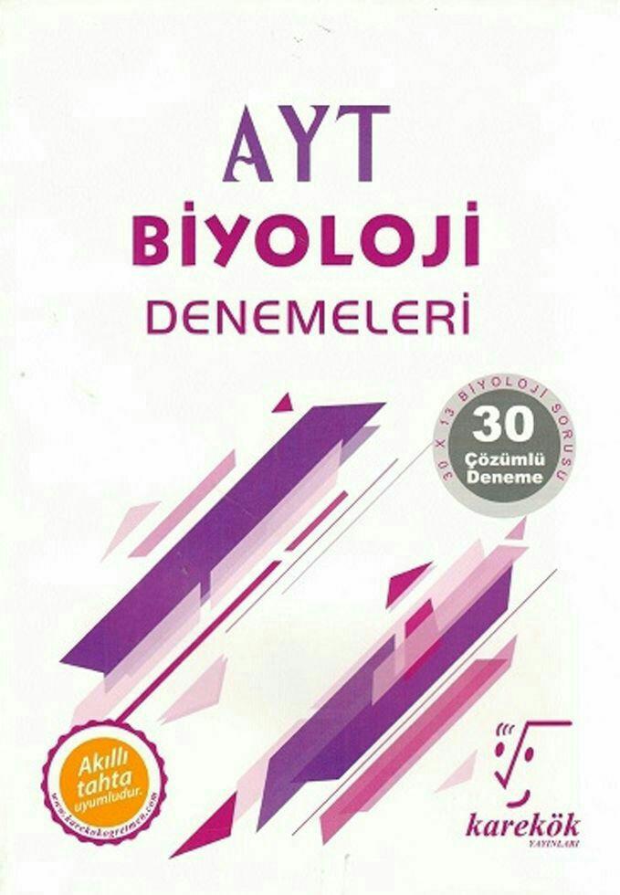 Karekök Yayınları AYT Biyoloji 30lu Deneme