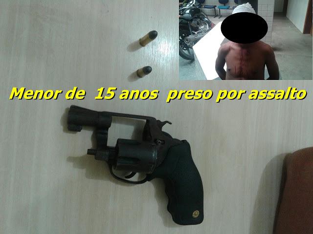 Em Santarém Menor de idade preso pela PM no bairro Santarenzinho com arma de fogo