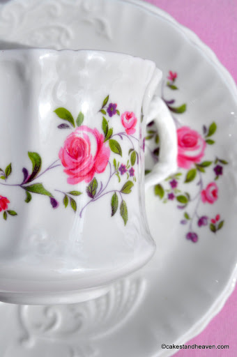 Hammersley embossed floral china trio