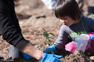 Photo: Went to tree planting event. Enbridge donating....