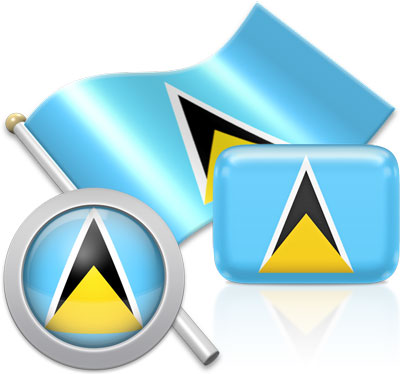 Saint Lucian flag icons pictures collection