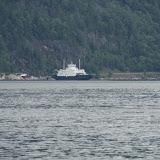 Een van de vele veerboten in Noorwegen.
