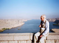 Colin on a dam in Egypt