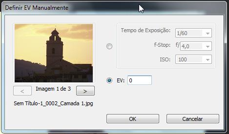 """Na imagem de exposição """"média"""", deixe o ISO inalterado (100)"""