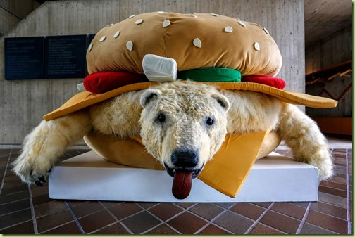 polar bear burger