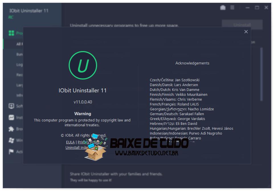 IObit Uninstaller v11