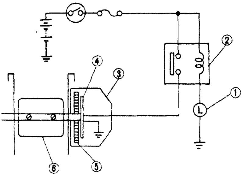 Цепь нагревателя биметаллической пружины воздушной заслонки