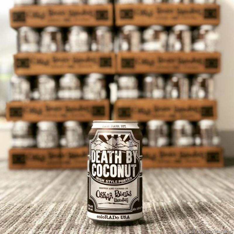 Oskar Blues Brewery Brings Death by Coconut Irish Porter Back For 2018