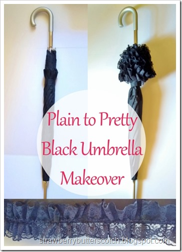 Plain to Pretty Black Umbrella Makeover