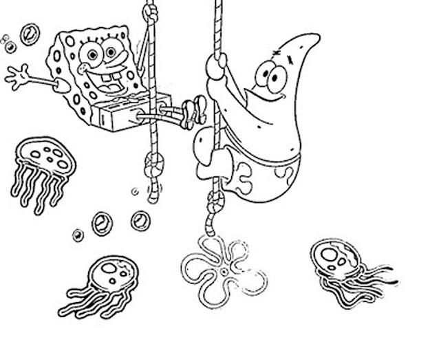 Baby Spongebob Coloring Page Free Download