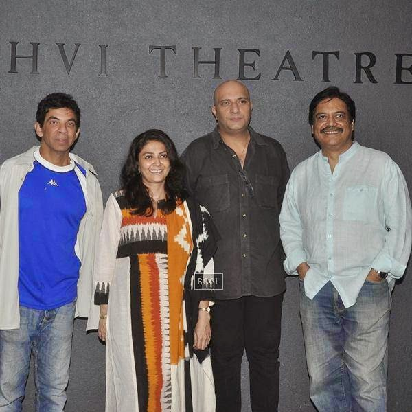 Bakul Thakkar, Lubna Salim, Amit Bahl and  Salim Arif during the play Tajmahal Ka Udghatan, in Mumbai, on July 24, 2014. (Pic: Viral Bhayani)