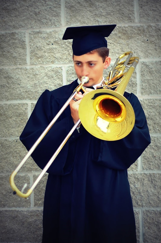 zach on the trombone