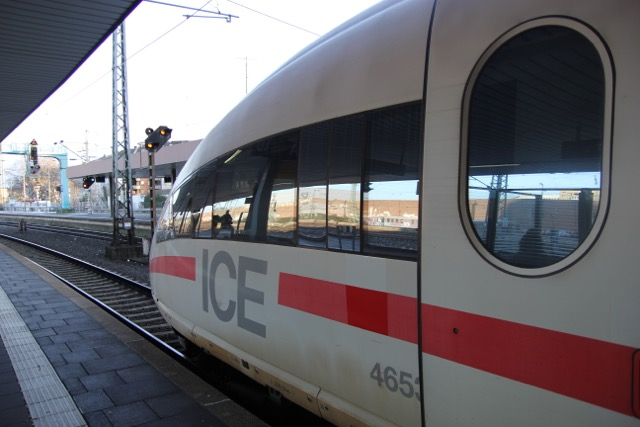 """The Ice Train at the station in Dusseldorf, Germany A quick """"hop out."""""""