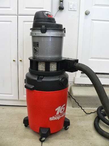 Phil Thien Dust Separator Integrated Into A 16 Gallon Shop Vac
