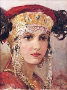 Соломко Сергей Молодая женщина в головном уборе