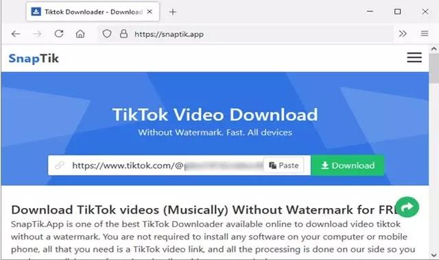 طريقة تنزيل وحفظ مقاطع فيديو تيك توك TikTok بدون شعار العلامة المائية
