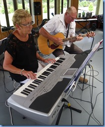 Jan and Kevin Johnston came from Algies Bay to be with us for the day. Jan on her beloved Korg Pa1X and Kevin on his acoustic electric Crafter guitar.