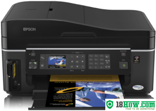 How to reset flashing lights for Epson SX600FW printer