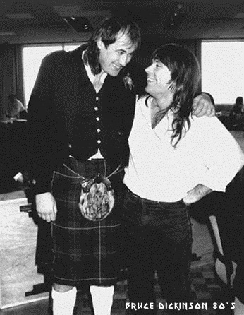 Bruce Dickinson con Fish, el gigantón escocés de Marillion