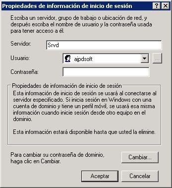 Gestionar credenciales almacenadas para acceso a recursos compartidos de red en equipos con Microsoft Windows XP