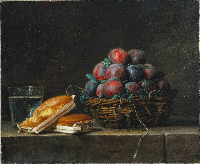 Anne Vallayer-Coster - Basket of plums