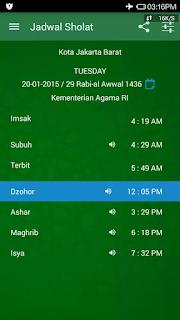 Download Aplikasi Jadwal Sholat, kibalt adzan doa