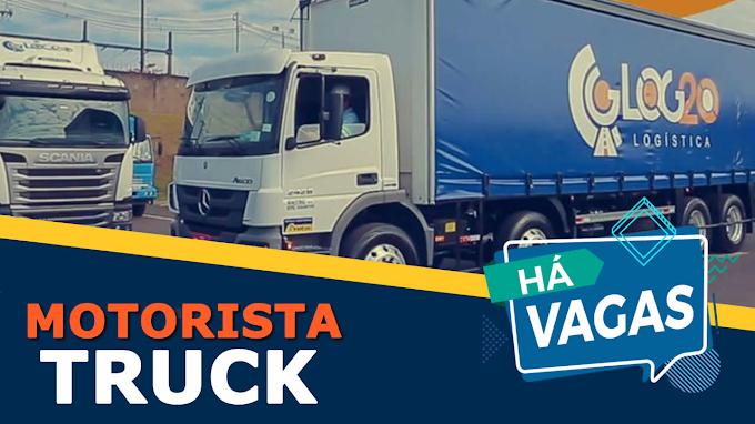 Transportadora Log20 abre vagas para motorista de caminhão 3/4