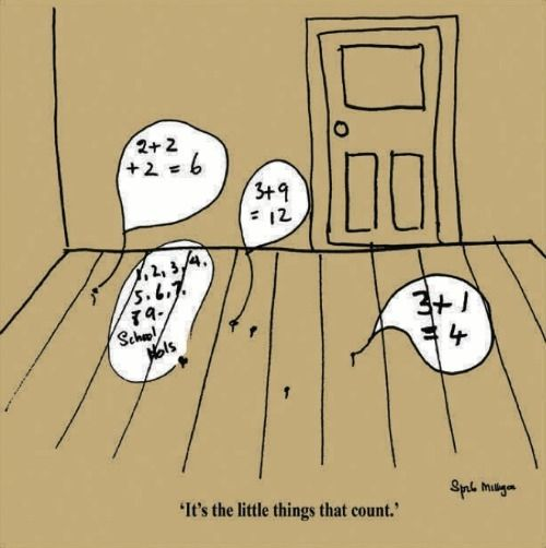 It's The Little Things In Life That Count cartoon by Spike Milligan