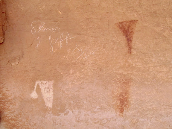 Rock art and Elmer Jeffs writing from 1944