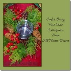 Berry Pine Cone Centerpiece