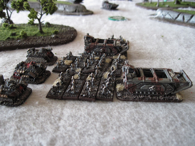The Krieg make use of some Hellhounds reclaimed from Ork hands.