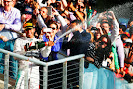 Lewis Hamilton champagne shower