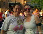Julie of Two Pink Chicks and I before the Race.