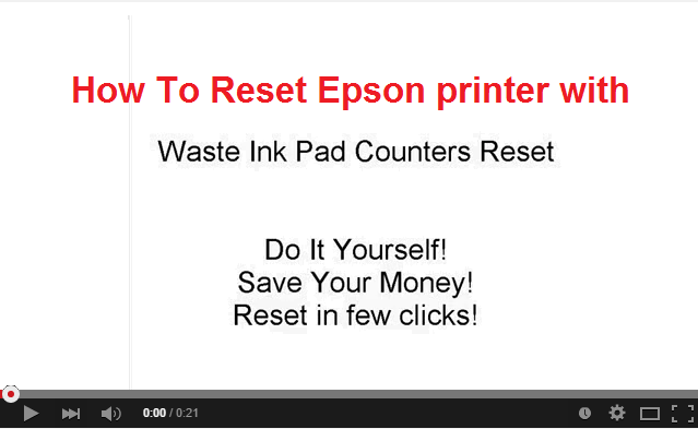 How to Reset Epson EP-976A3 printer