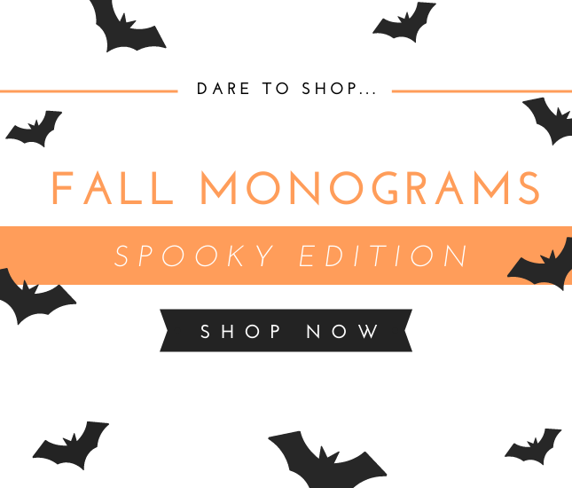 fall monograms for spooky season from marleylilly.com