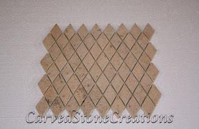 Diamond, Flooring, Flooring & Mosaics, Interior, Limestone, Mosaic, Natural, Stone, Tile