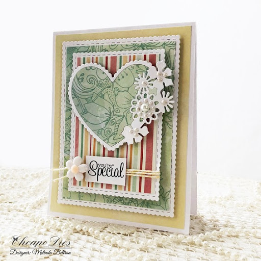 Terrific TuesDIES Heart Frame Card with FREE Printable Sentiments