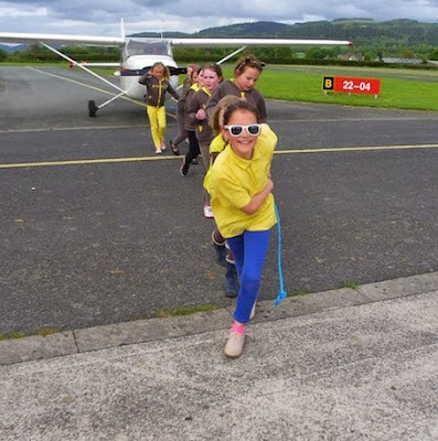 Pulling a plane for Girlguiding