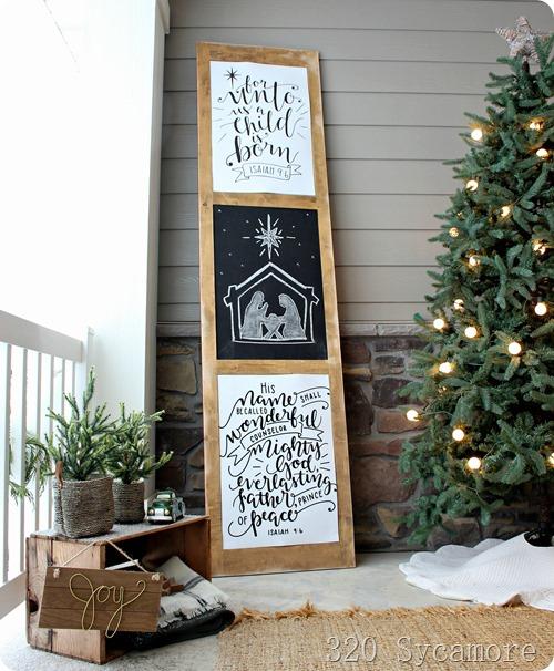porch decor Christmas