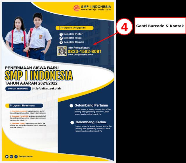 Download Contoh Brosur SMP ( Sekolah Menengah Pertama ) Gratis