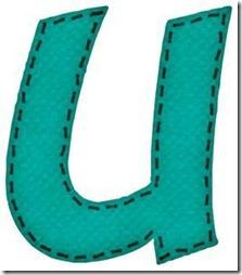u letras verdes