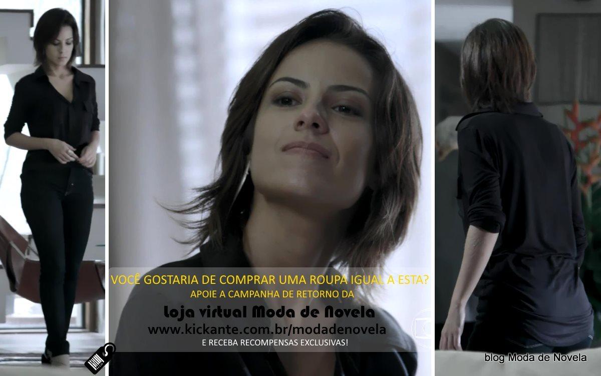 moda da novela Império, look da Maria Clara dia 7 de fevereiro de 2015