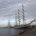 Russian and Mexican tall ships in Port Angeles